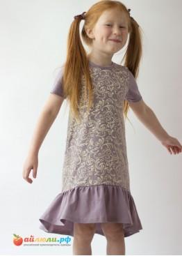 0284 Платье для девочек (волан)