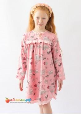 1400 Сорочка для девочек (кулирка)