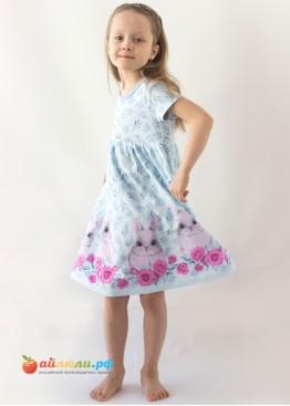 """3025  """"Овечки"""" платье (кулирка)"""