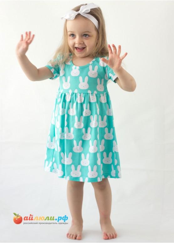 """3027 """"Зайка"""" платье (кулирка)"""