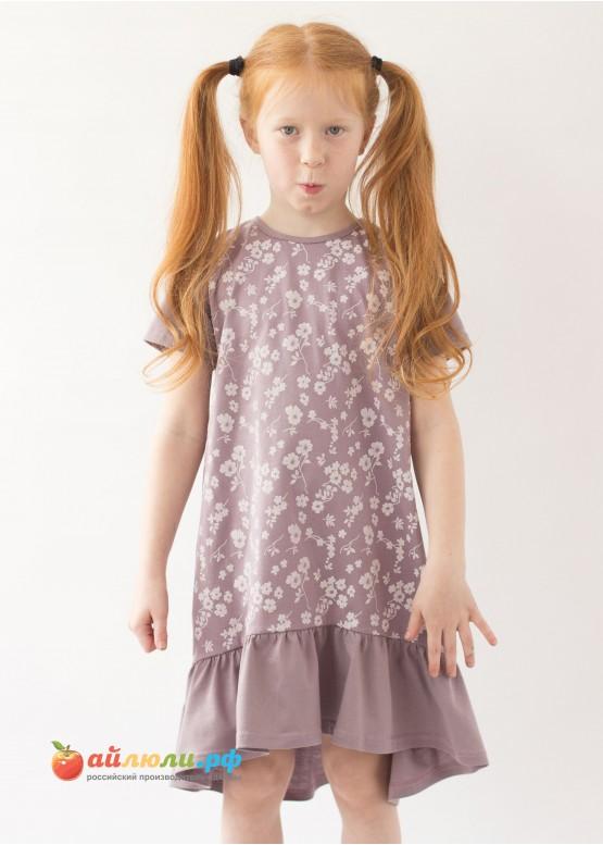 3030 Платье (волан,кулирка)