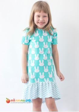 """3035 """"Зайка"""" платье (волан,кулирка)"""