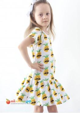 """3059 """"Ананас"""" платье (кулирка)"""